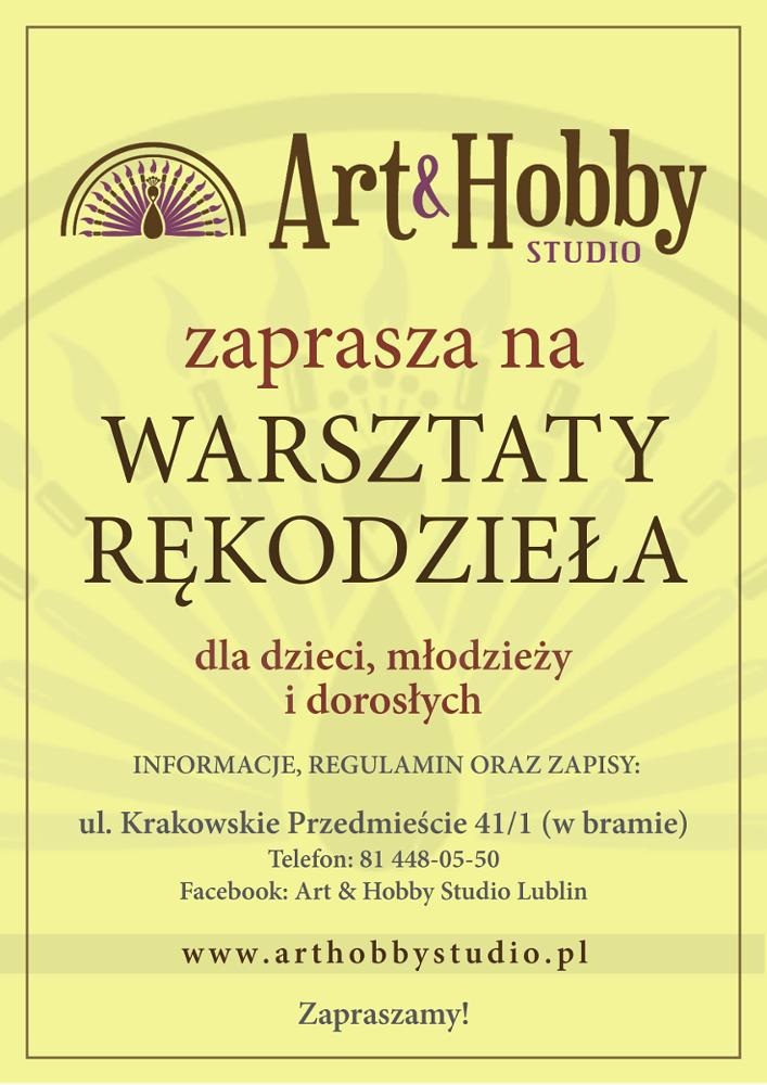 plakat_zajecia_Art_&_Hobby_Studio